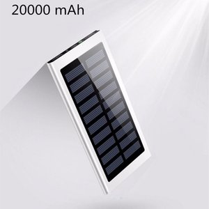 20000mAh Solar Power Bank Dual USB powerbank Waterproof Battery External Charging with LED Light 2USB powerbank