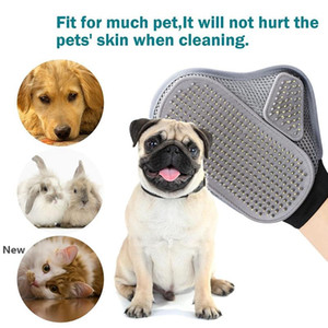 Pet Comfortable Grooming Glove Animal Long Hair Dog Cat Relax Muscles Comb Pet Bath Cleaning Brush DDA37