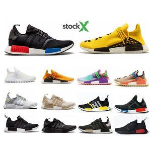 NMD R1 hu Human Race XR1 Hommes Chaussures de course Pharrell Williams Bred JO Classique Oreo Hommes Femmes mastermind Japon Sport Sneaker