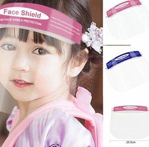 niños cubierta a prueba de niños careta de seguridad al aire libre de polvo visera clara Escuela de Niños Headwear de la cara llena de material de PET careta KKA7760