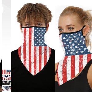American Flag modello Maschere Sciarpa di riciclaggio unisex Triangolo Bandana Sciarpe Foulard collo maschera di protezione esterna in bicicletta fascia CCA12108 50pcs