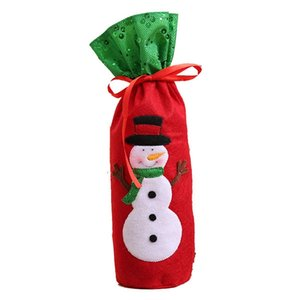 Creative Wine Bottle Cover Bag for Christmas Home Party Decoration