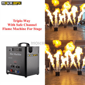 4 pz / lotto Triple-way Lanciafiamme Stage Flame Fire Machine 110 V-230 V dj Lanciafiamme con canale sicuro dmx stage fire machine