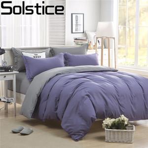 Solstice Home Textiles / Solido Colore entrambi i lati cucitura 3/4 pezzi Completo Letto / letto Set / biancheria da letto / copriletto / Biancheria da letto lenzuolo