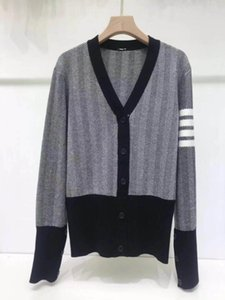 Ladies coat ladies designer clothing knit cardigan women's long paragraph winter color temperament Slim V-neck sweater cosy