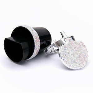 New Bling Bling Rhinestones Portable Car Ashtray With Light Crystal Diamond Led Car Ash Tray Ashtray Storage Cup