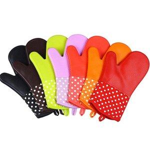 Mikrowellenherd-Handschuh-Wärmeisolierung Silikon-Ofen-Handschuh Rutschhemmende Bakeware Küche Kochen Backen Werkzeuge Waschen Handschuhe GGA3409-2