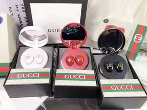 Auricolari Bluetooth di lusso TWS Auricolare Bluetooth wireless sportivo di marca con scatola di ricarica con specchio per il trucco 3 colori