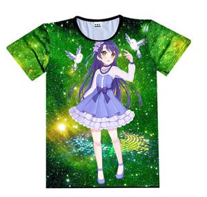 O IDOLM STER amami haruka T-shirt 2019 3D Impresso T-Shirt Cosplay Traje Diário Casual Manga Curta Camisetas Verão Tops Tees