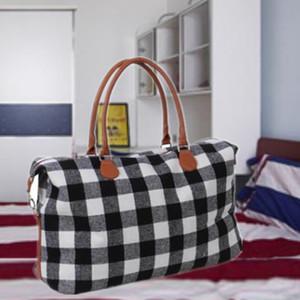 Großhandel überprüfen Handtasche rot schwarz kariert Taschen große Kapazität Reise Tote mit PU Griff Unisex Sport Fitness Yoga Aufbewahrung Taschen DBC DH0734-2
