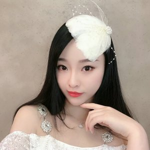 Bride Feather Hairpin Headdress Swan Swan Lake Retro National Wind Girl Stage Performance Catwalk Hair Accessories Fairy