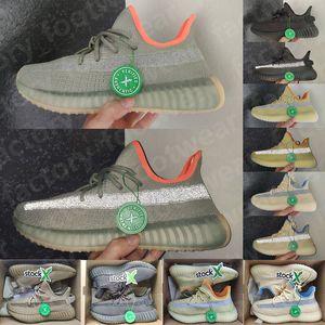 2020 Kanye West Asriel V2 sábio do deserto de linho Marsh Israfil Oreo Yeshaya Yecheil reflexivos Homens Mulheres Running Shoes treinadores desportivos Sapatilhas