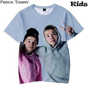 Frdun 3D Crianças T-shirt Marcus e martinus Macia Rodada Collar T-shirt Kpop Casuais Meninos e Meninas Amor Moda Roupas Novas