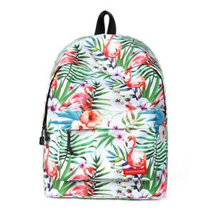 Nueva llegada tropical del morral del estilo de las mujeres de moda mochila de viaje lindo bolsas Flamenco Impreso morral de la escuela para los adolescentes BB142