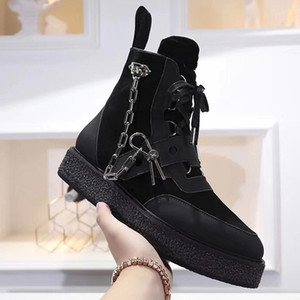 New arrival 2019 New designer ribbed nail flat shoes men and women party couple low to help leather sneakers fashion women boots size 41 45