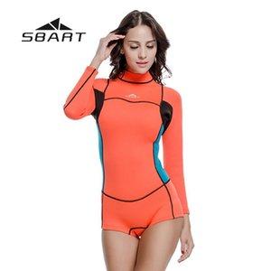 Sbart 2 mm de neopreno mujeres Chapo Traje de Kite Surf Snorkel traje de baño Buceo Una Pieza Traje Beach Guardia Rash