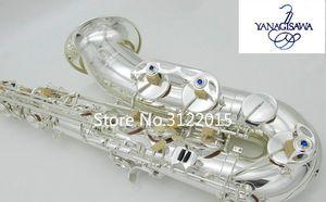 Профессиональный высокое качество YANAGISAWA TWO20 Bb тенор саксофон музыкальный инструмент латунь посеребренные саксофон с корпусом, мундштук