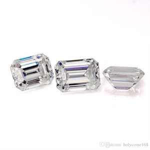 D white color 15x8.5mm loose synthetic moissanite emerald cut diamond