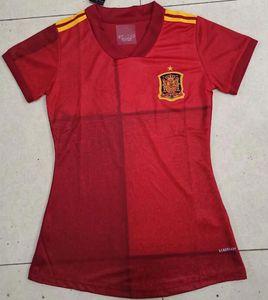 2020 Copa del Mundo Mujeres España Inicio camiseta de fútbol ASENSIO RAMOS CIUO SILVA INIESTA nacional LEJOS Mujer camiseta de fútbol roja Camisetas de futbol