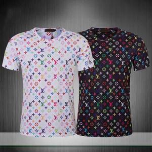 2020 Shirts Herren-Kurzarm-Sommer-T-Shirt Qualität Baumwolle Eyeliner Druck Großhandel Männer-T-Shirt Größe M-3XL