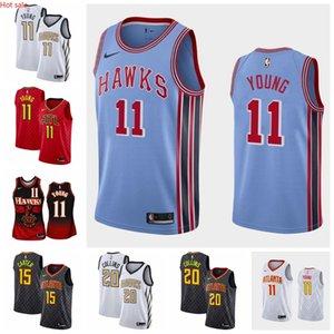 Hot 11 TraeYoung 15 VinceCarter AtlantaHawksMen 2019 2020 Swingman Basketball Jersey StatementEdition Red