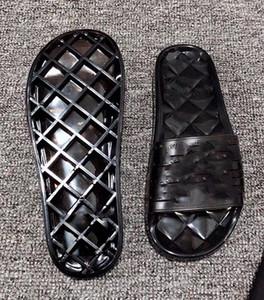 Sandalias de cristal de jalea negro rojo Mujer Diseñador Sandalias Zapatillas de lujo con caja Diseñador Lujo Diapositiva Verano Sandalias planas Zapatilla