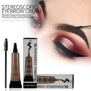 Henna Gel para cejas BRUNETTE Tint Crema Dye Crema Caramelo Negro Microblading Eyebrow Tattoo Pen Pomade Ceja Kit de cepillo reforzador