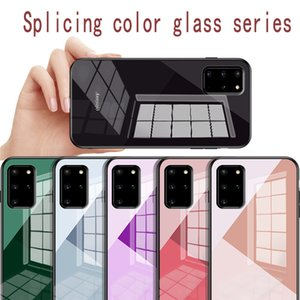 Suitable for Samsung Galaxy S20 mobile phone protective sleeve S20plus s20Ultra new design anti-fall stitching color pattern tempered glass