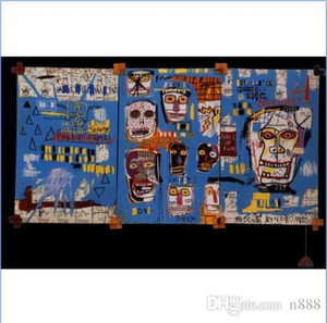 "Jean Michel Basquiat ""Mitchell Tripulação 1983"" pintado à mão HD pintura a óleo Art Print, Wall Art Home Decor sobre tela G103 200314"