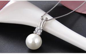 Anhänger Geburtstagsgeschenke Top-Qualität S925 silber Freundin ohne Kette Perlenketten mit Zirkonia 00