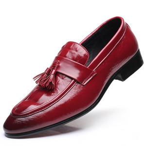 Size38-48 Mode Spitz Quasten Müßiggänger Herren Abendschuhe Mann Klassische Formale Hochzeitsschuhe Herren Lederschuh Driving Wohnungen