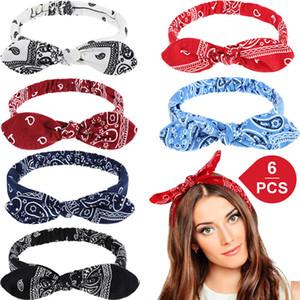Coelho Headband para mulheres menina do cabelo Acessório de Páscoa Coelho Coelho Orelha Knot cabelo cabeça 6 cores Novas