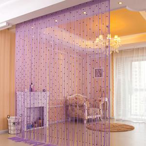 Crystal Bead Curtain Tassel Sala casamento Quarto Partition Decoração frisada Modern Curta