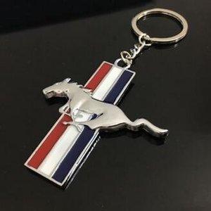 كيرينغ الأزياء 3D لفورد موستانج شعار سلسلة المفاتيح شخصية شعار قلادة سيارة موستانج الشعار شعار السلسلة الرئيسية هدية 4S ترويج المبيعات متجر