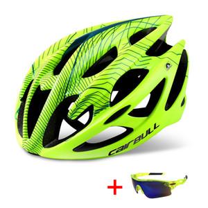 Gözlük Ultralight DH MTB Arazi Bisiklet Kask Spor Binme Bisiklet ile Profesyonel Yol Dağ Bisikleti Kask