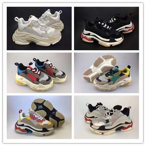 Con i bambini Triple S Sneakers per ragazzi Scarpe firmate Piattaforma per ragazze Sport per bambini Chaussures per bambini Adolescenti con suola spessa Taglia per ragazzi
