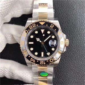 N-v8 GTM besten orologio di Lusso original 3186 Bewegung Uhren 904L Gärbstahl Designer-Uhren 40mm Durchmesser wasserdicht 200m