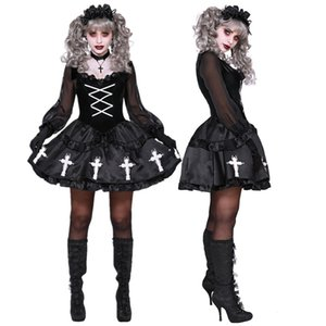 Halloween Anime Lolita Adulte Femmes Voodoo Doll Costume Carnival Party Ghost Bride sorcière cosplay Fancy Dress Up