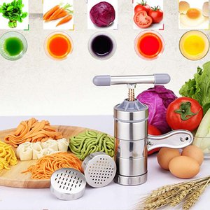 New Household Stainless Steel Manual Pasta Machine Hand Pressure Noodle Machine Noodle Maker With 5 Models