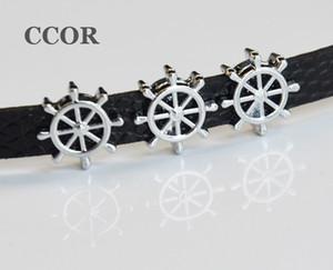 10 PCs 8mm Navio Barco Navio Roda Slider Encantos Beads Fit 8mm Nome Colarinho Cintos Pulseira Pulseira Acessórios de Jóias