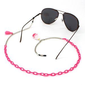 Acrylique alliage chaîne cordes Tassel Lunettes de soleil Chaînes Collier Lunettes de lecture cordon Holder courroie de cou Corde pour lunettes