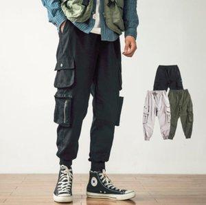 Erkek Kargo Pantolon 2020 Hip Hop Harem Streetwear Pantolon Erkekler Koşucular Pantolon Sweatpant Günlük Spor Koreli Stil Cepler