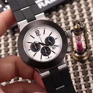 Hot Sale relojes de los hombres del cronógrafo del cronógrafo Chrono Diago todas las gomas de trabajo Relojes hombres Deporte