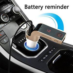4-in-1 Freihändige drahtloser Bluetooth FM-Transmitter G7 + AUX Modulator Car Kit MP3-Player SD-USB-LCD Auto-Zubehör