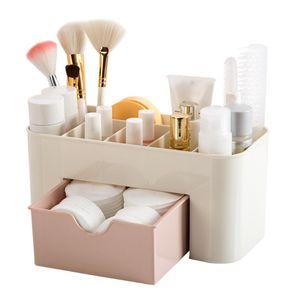 Stockage bureau comestics boîte en plastique économiser de l'espace de stockage de maquillage de type tiroir maquillage boîte organisateur maquillage organizador escritori