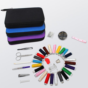 Portable Travel Sewing Box Sewing Kit Tools Sets with Storage Bag Package Needles Thread Stitching Quilting Accessories Home Organizer