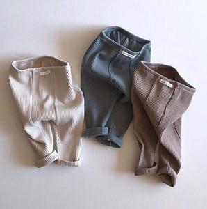 Çocuklar Tasarımcı Giyim PP Pantolon Bebek Katı Stretch Tozluklar Erkekler Kızlar Yumuşak Orta Bel Sıcak Pamuk Moda Pantolon Çocuk Giyim YP625