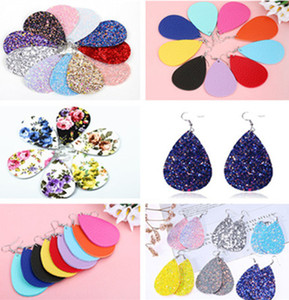 Kendra Bohemia Style PU leather glitter sparkly Oval Earrings Fashion Dangle Earrings for Women Jewelry Wholesale