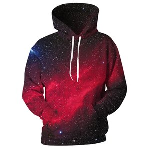 wholesale 2018 3D Hoodies Sweatshirts Men Space Astronaut Planet Balloon 3D Print Fashion Streetwear Pullover Tops Tracksuits