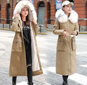 X-لونغ 2020 جديد وصول أزياء الفراء مقنع سليم النساء في فصل الشتاء سترة أوتون مبطن الدافئة معطف رشاقته السيدات معاطف طويلة سترة المرأة الستر